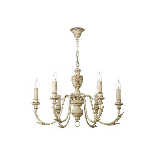 David Hunt Lighting, Emile 6 Light Pendant Rustic French, EMI0655 (Hand made, 7-10 day Delivery)